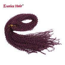 3-5Packs Eunice Synthetic Box Braids Hair Thin Twist 28Inch Zizi Braid 99j Blonde Crochet Extension 28Roots/pc