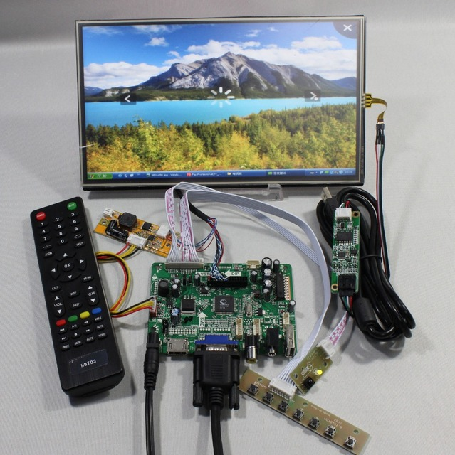 "HDMI+VGA+AV+Audio+USB FPV Control board+10.1"" 1366*768 N101BCG-L21 lcd+Touch screen model lcd for Raspberry Pi"