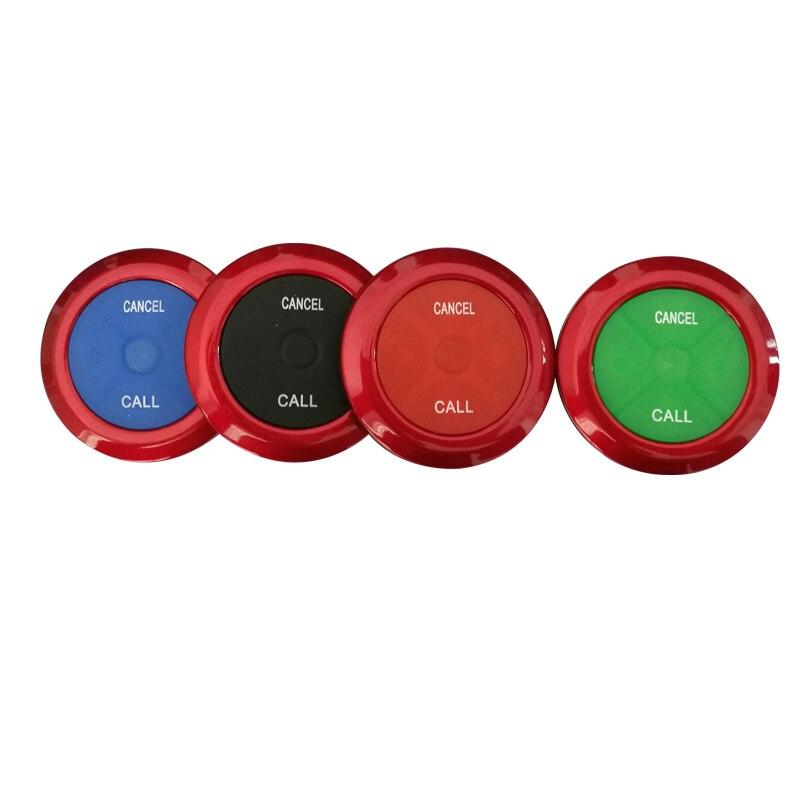 10 шт. 433 МГц ультра тонкий ресторанный пейджер Беспроводная кнопка вызова официанта система вызова пейджер с кнопками два ключа ресторанное оборудование питание