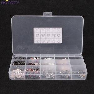 Image 4 - 750 Pcs 15 Valore Tattile Push Button Switch Micro Interruttore per MP3 MP4 Monitor LCD Auto a distanza di controllo Momentaneo Assortimento kit