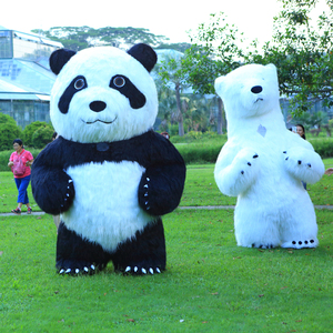 Image 3 - New Arrival 2.6M Inflatable Panda Costume For Advertising Customize Polar Bear Inflatable Mascot Halloween Costume For Adult