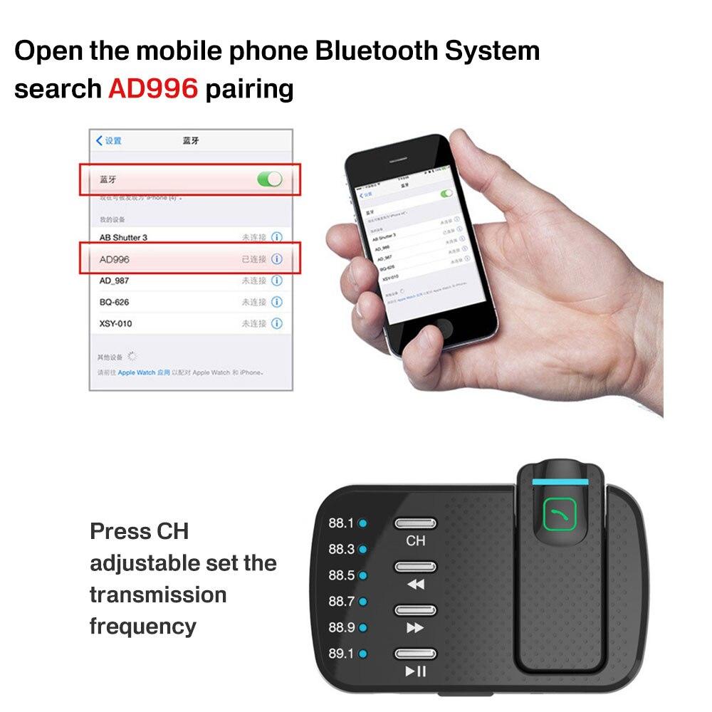Автомобиль Зарядное устройство 12-24 V автомобильной сигареты Зарядное устройство Dual USB Автомобильное Bluetooth Mp3 Беспроводной автомобиля