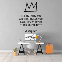 Basquiat Quote Wall Decal Art Home Decor Sticker House warming gift Christmas Decoration Chambre For Living Rooms B476