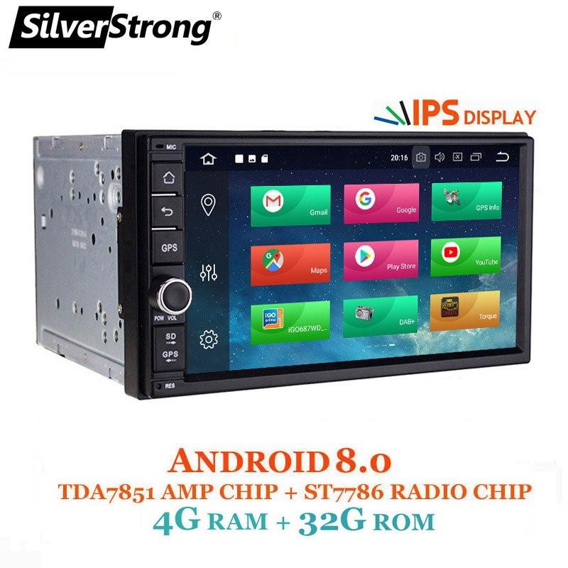SilverStrong Android8.0 7,12 автомобильный DVD 2Din Универсальный DSP android OctaCore автомобиля gps 7 дюймов стерео Авто Радио Navi 706