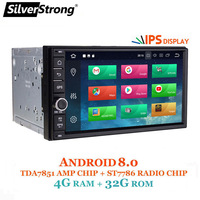 SilverStrong Android8.0 7.12 Car DVD 2Din Universal DSP android OctaCore Car GPS 7 inch Car Stereo auto Radio Navi 706
