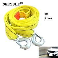 1pc SEEYULE Car Towing Rope Belt 4m 5 Tons Emergency Helper Trailer Heavy Duty Pull Towing