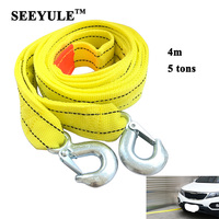 1pc SEEYULE Car Towing Rope Belt 4m 5 Tons Emergency Helper Trailer Heavy Duty Pull Towing