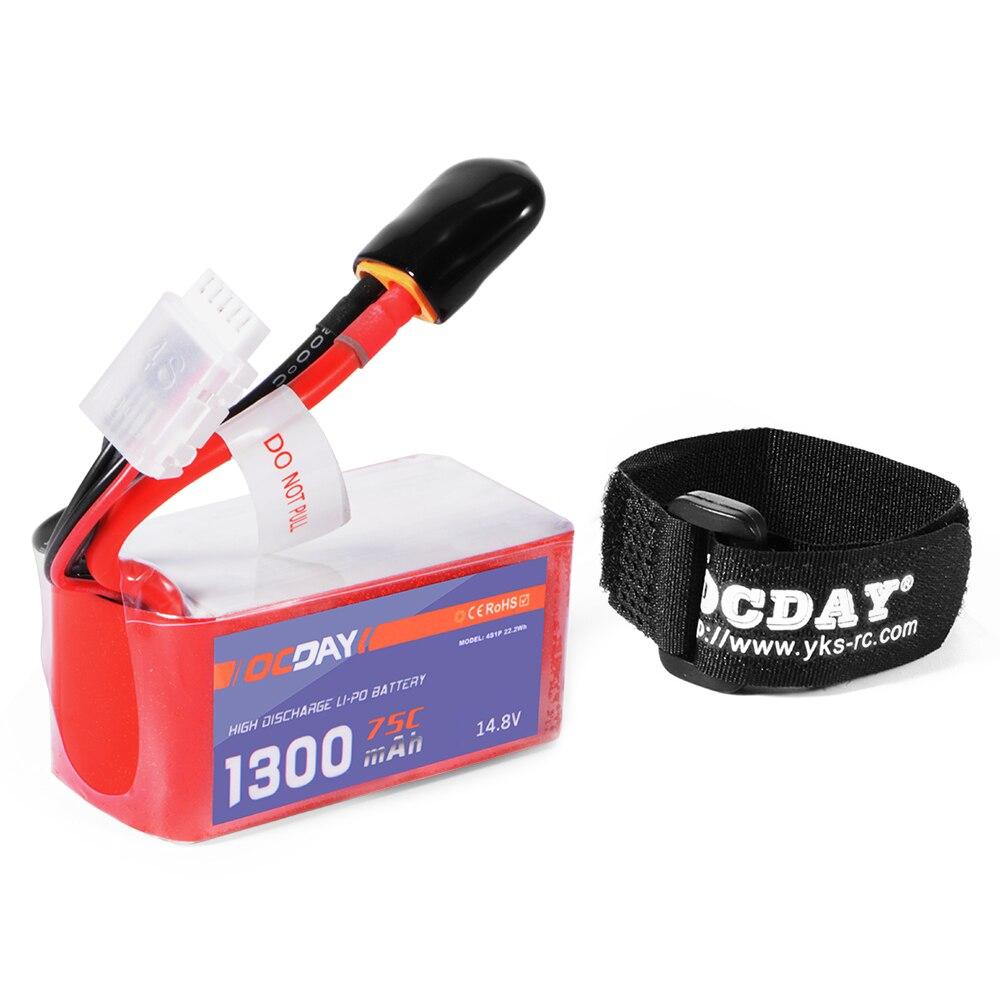 Prix pour OCDAY 14.8 V 1300 mAh 4S 75C LiPo Batterie XT60 pour 150-280 Racing Quadcopter RC352
