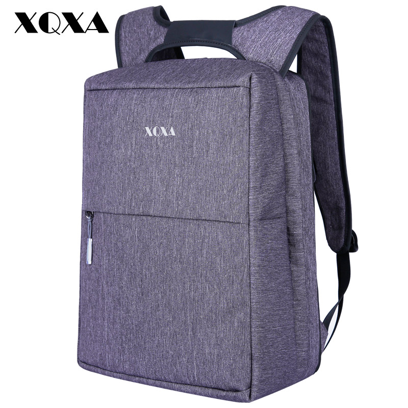 XQXA Classic Business Men Backpack 15.6 Inch Waterproof Anti-theft Bagpack for Men OL Style Women Bag Mochila School Bag College voyjoy t 530 travel bag backpack men high capacity 15 inch laptop notebook mochila waterproof for school teenagers students