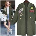 Longo Do Exército jaqueta Verde Mulheres Casacos de Inverno Outono 2016 plus Size 5XL Magro Veste Manteau femme hiver femme blouson casaco