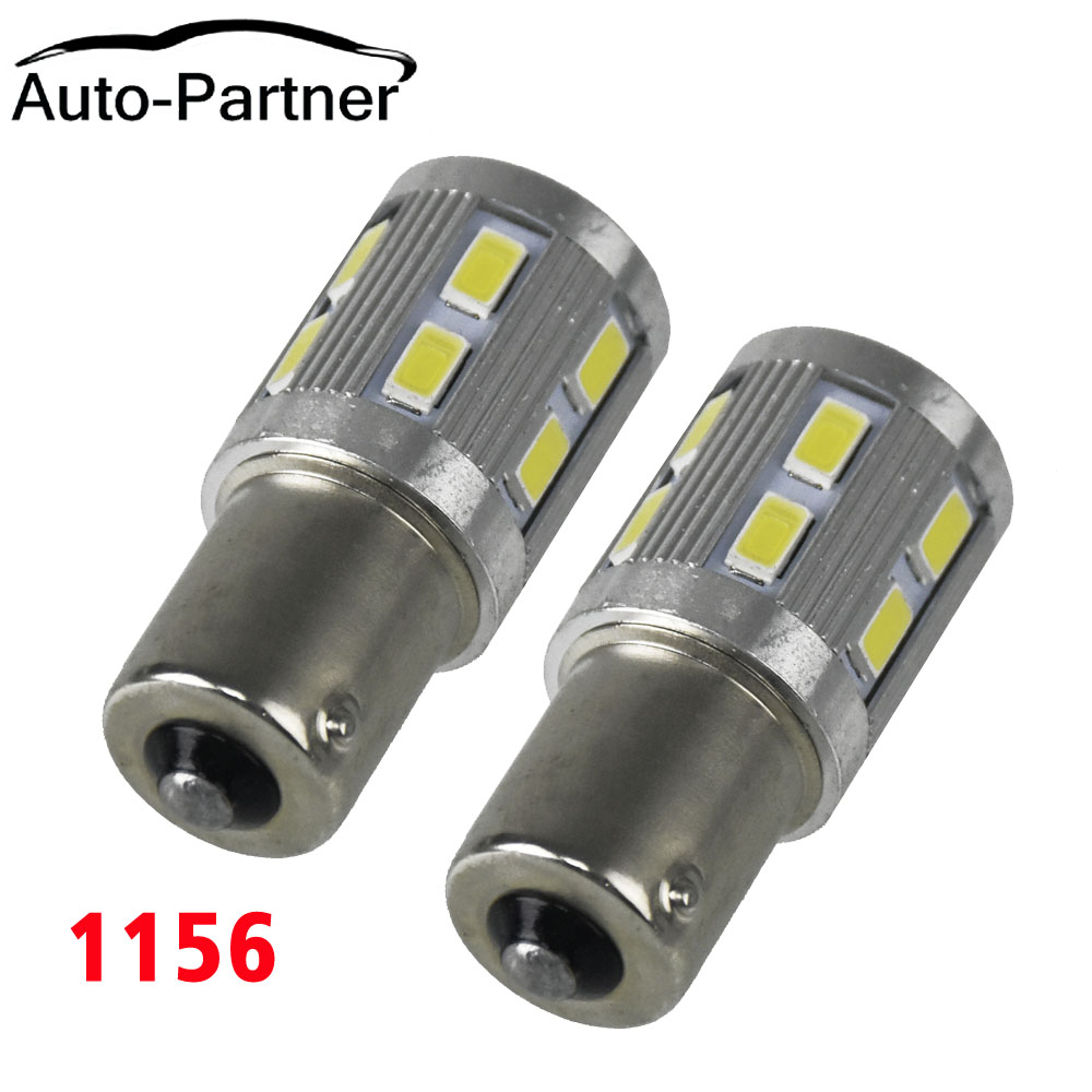 1Pair P21W 1156 BA15S R5W R10W 5630 5730 LED Car Brake Lamp Reverse Bulb Turn Signal Running Lights for mitsubishi outlander asx