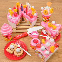 73pcs Onshine DIY Cutting Birthday Cake Dessert Pretend Play Food Toys with Candles