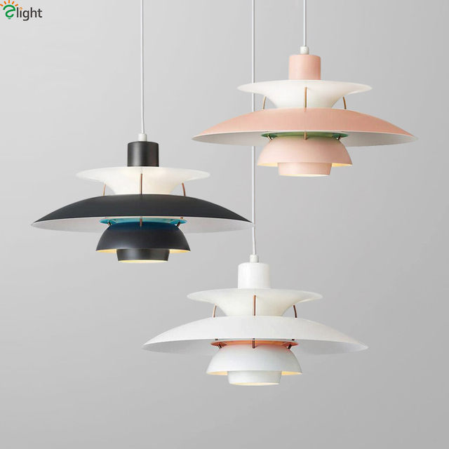 Hanging Light Fixtures Living Room Best Quality Furniture Nordic Ph5 Led Pendant Lights Dining Multicolor Metal Lamp
