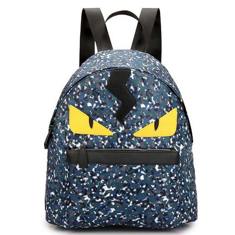 ФОТО 2017 waterproof nylon camouflage demon eyes backpack big small size blue yellow parent and child bugs bag student school bags