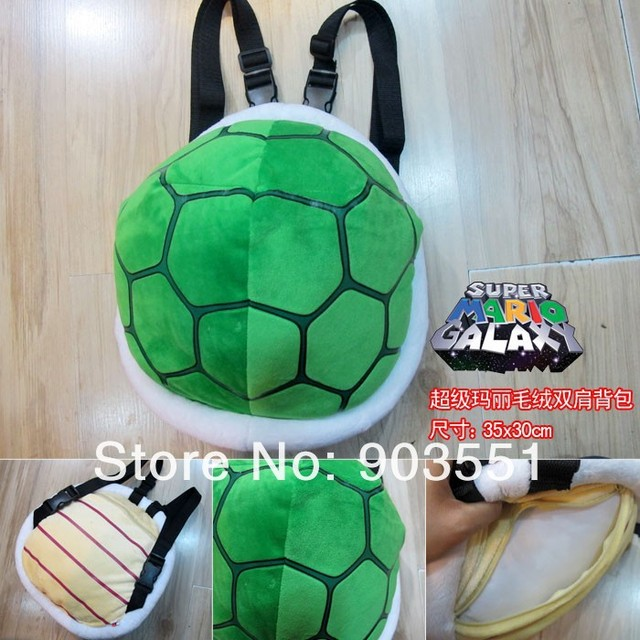 Super Mario Plush 35cm Koopa Troopa Shell Backpack Stuffed Animal Toy for  kids cosplay toys d22fc69756e37