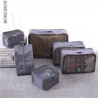 6 Piece Travel Packing Organizers Bag Travel Luggage Storage Set BK2402