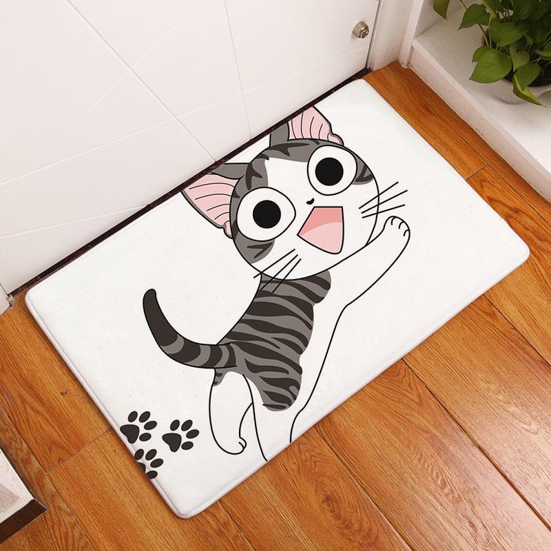 Мягкий коврик для ванной, милый домашний коврик с рисунком кота, коврики для ванной комнаты, коврики для кухни, гостиной, впитывающие Противоскользящие коврики - Цвет: 5