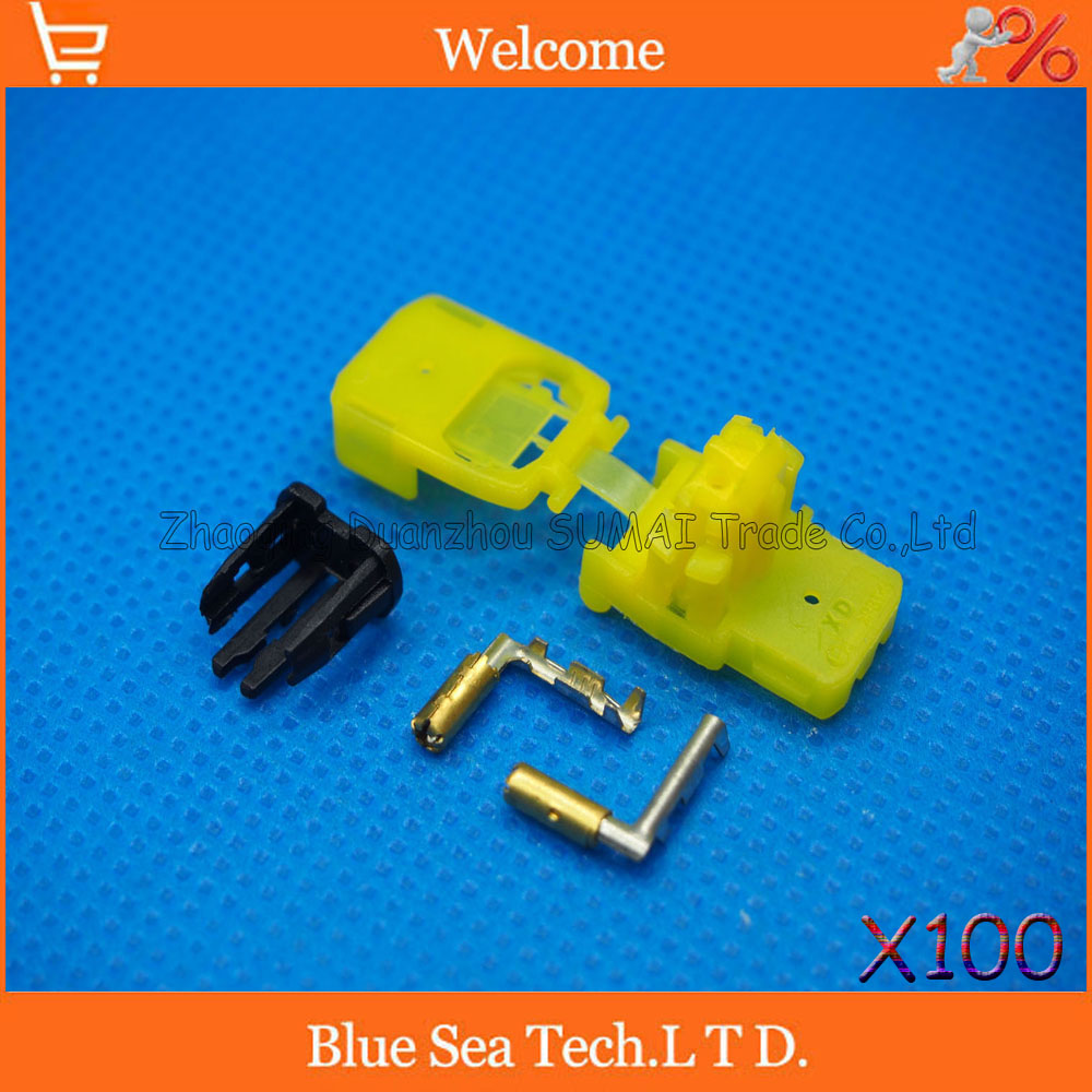 100 sets 2Pin female Auto air bag connector car airbags plug for Toyota VW Honda etc