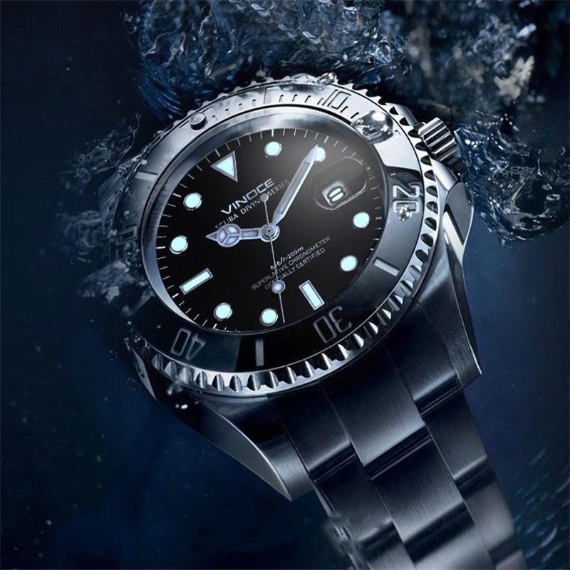 200 metrów wodoodporne zegarki nurkowe ze stali nierdzewnej sport - Męskie zegarki - Zdjęcie 6