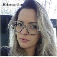 Badtemper Women Brand Designer Cat Eye Sun Glasses Transparent Frameless Retro Fashion Glasses Mirror Colorful Female