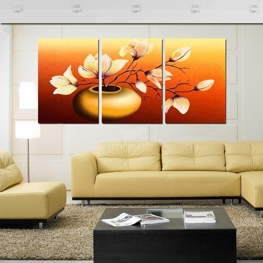 unids magnolia decoracin del hogar cuadros arte de la pared pintura al leo impresa en lienzo flor de pared cuadros para la s