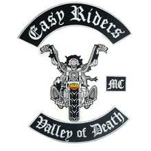 EASY RIDERS DALLEP OF DEATH Biker Patch BACKING Embroidered biker Patches Badge 4 PCS/LOT