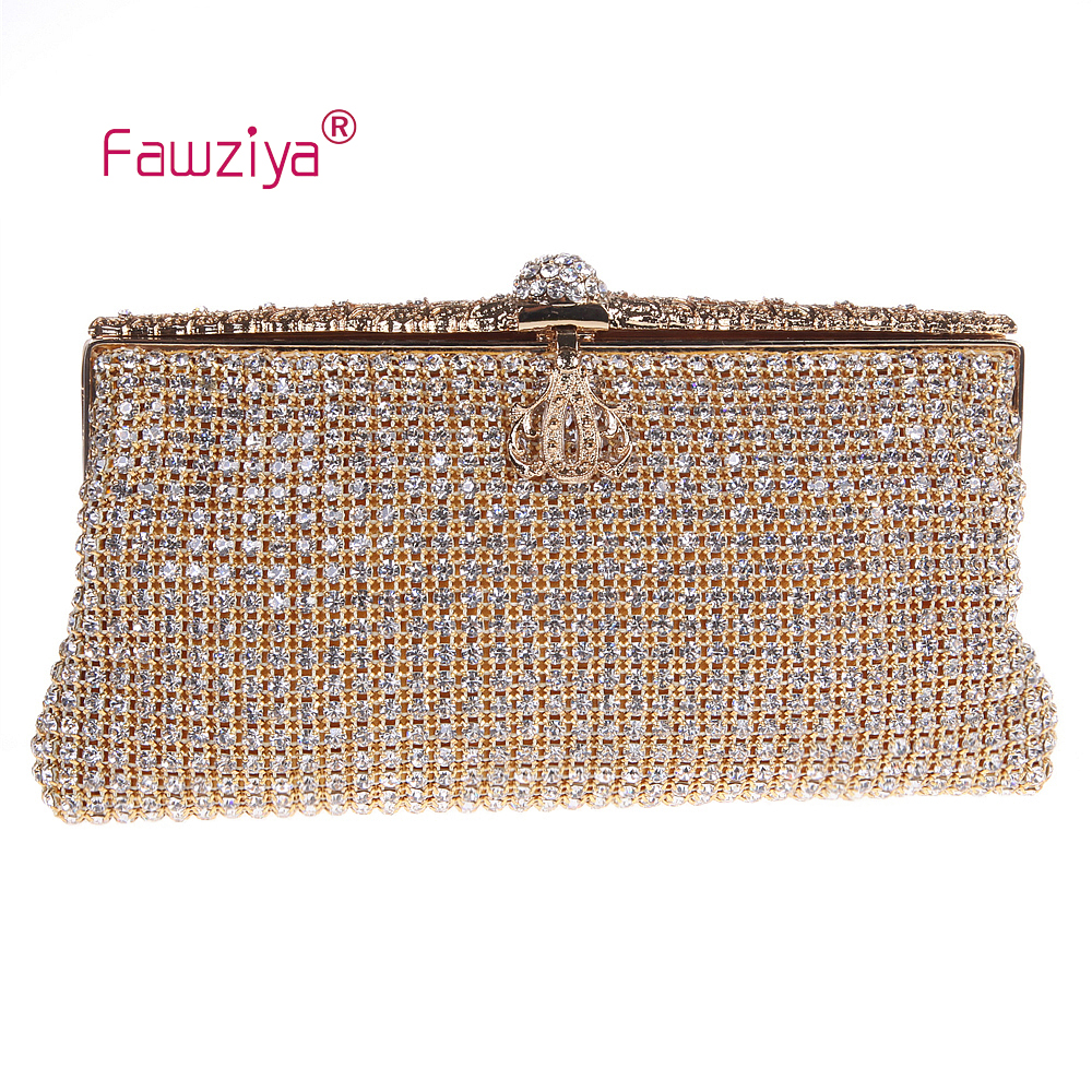 Fawziya Denim Bag Crown Clutch Evening Bag The Night Bags For Womens Purses fawziya apple clutch purses for women rhinestone clutch evening bag
