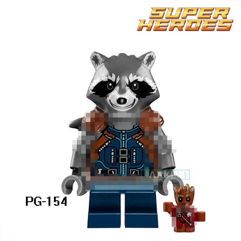 Building Blocks Rocket Racoon Guardians of the Galaxy Bounty Hunter Star Wars Super Hero Classic Bricks Kids DIY Toys Hobbies