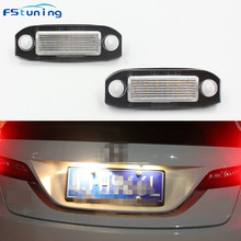 FSTUNING 18 LED Licence Plate Light Number Lamp For Volvo C30 C70 S80 V70 XC70 S40 V50 S60 V60 XC60 XC90 car license plate lamp auto parts diesel fuel rail pressure sensor for volvo c30 s40 s60 v50 xc60 c70 v70 xc70 s80 xc90 2 4 d5 tdi d