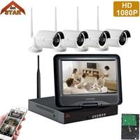 Stardot 4CH Wireless IP Camera Wifi NVR Kit 1080P HD Outdoor IR Night Vision Security Network
