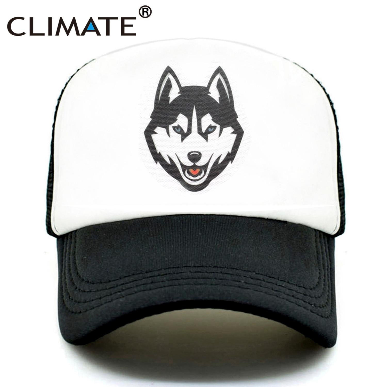 CLIMATE Men Wolf Trucker   Caps   Wolves Totem Hat   Cap   Men Cool Huskie   Baseball     Cap   Hip Hop Summer Mesh Trucker   Cap   Hat for Men Man