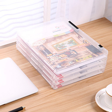 A4 File Transparent Storage Box Clear Plastic Document Cases Desk Paper Organizers high quality