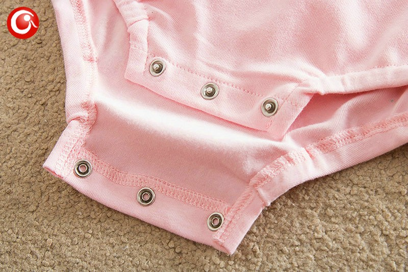 2016 Casual Pink Baby Bodysuit With Lace Princess Newborn Girls Cotton Long Sleeve Body Clothes Infant Underwear For Christmas (7)