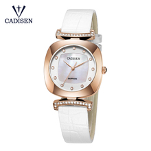CADISEN 2017 PU Leather Wrist Watch Bracelet Quartz Watch Woman Ladies Watches Clock Female Dress Relogio Feminino Relojes Mujer