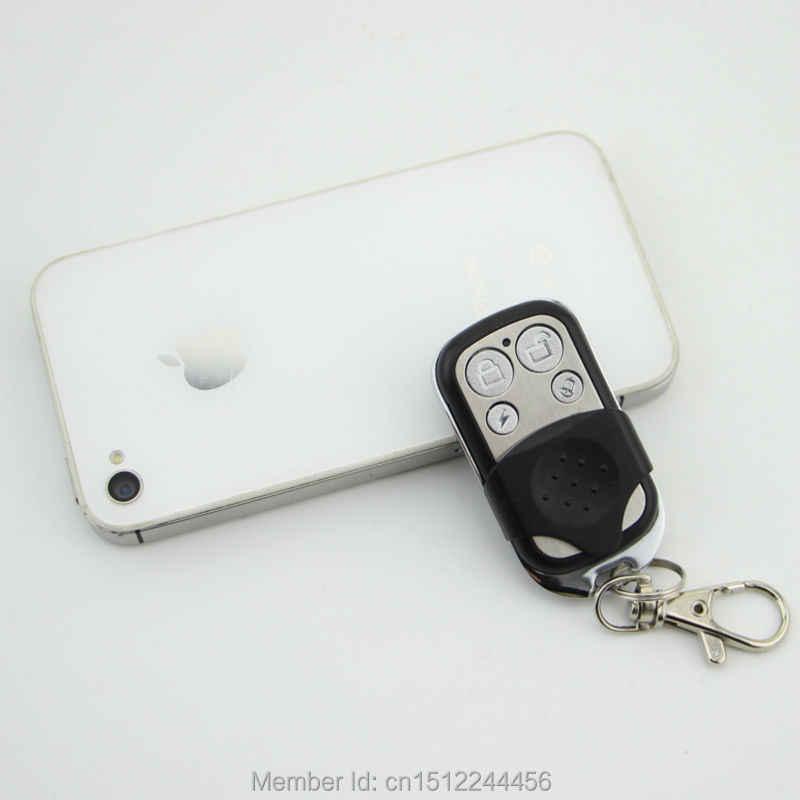 Nirkabel 433 MHZ Portable Logam Remote Control Keyfobs untuk Kami Terkait Gsm Alarm Rumah Pencuri Keamanan Sistem