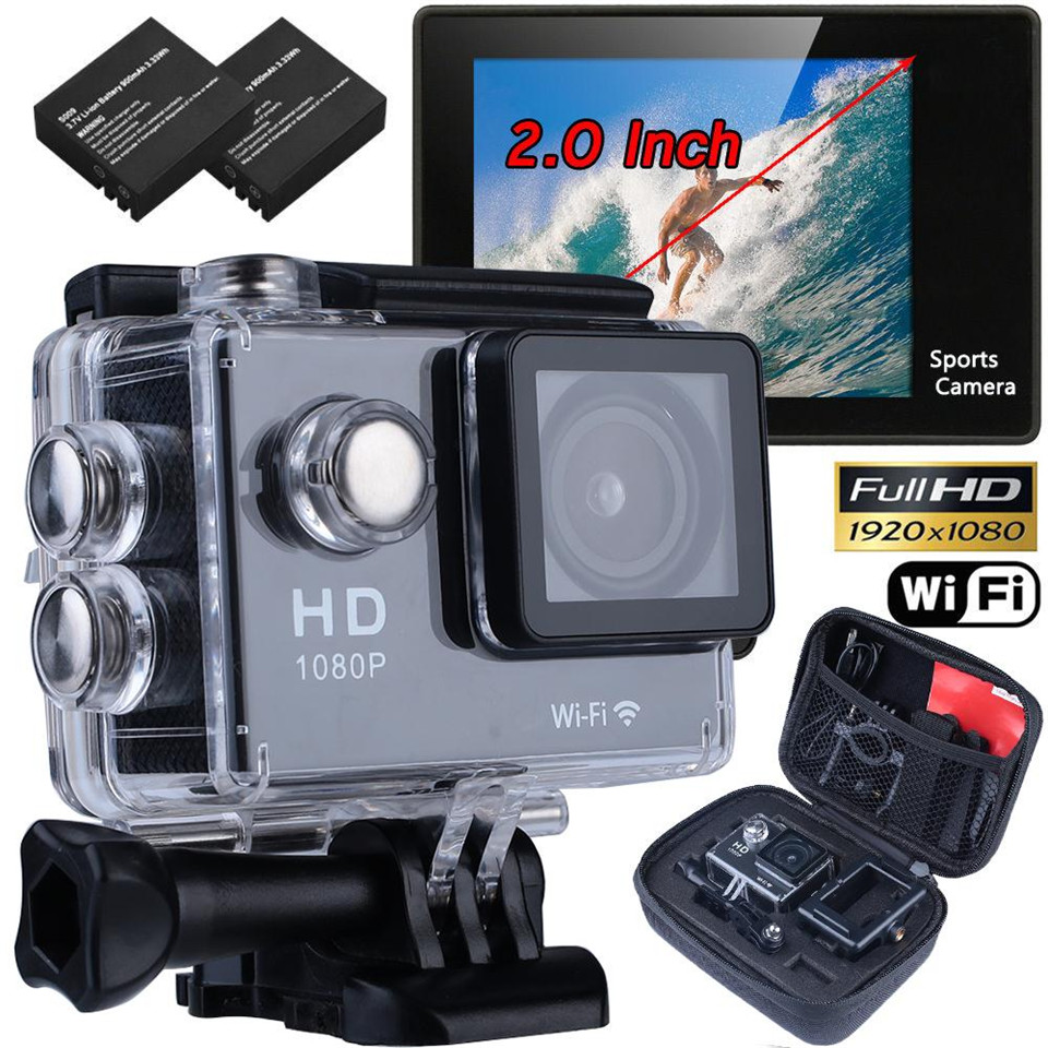 1080P 12MP 4K HD Sports Video Camera Action DV SJ4000 Wifi Cam Camcorder With Waterproof Hiking Travel Kits