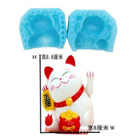 3D Cake Mold Lucky Cat mould Silicone Fondant Mold Cake Tools Decorating Chocolate Mold sugarcraft baking Cupcake SQ1688