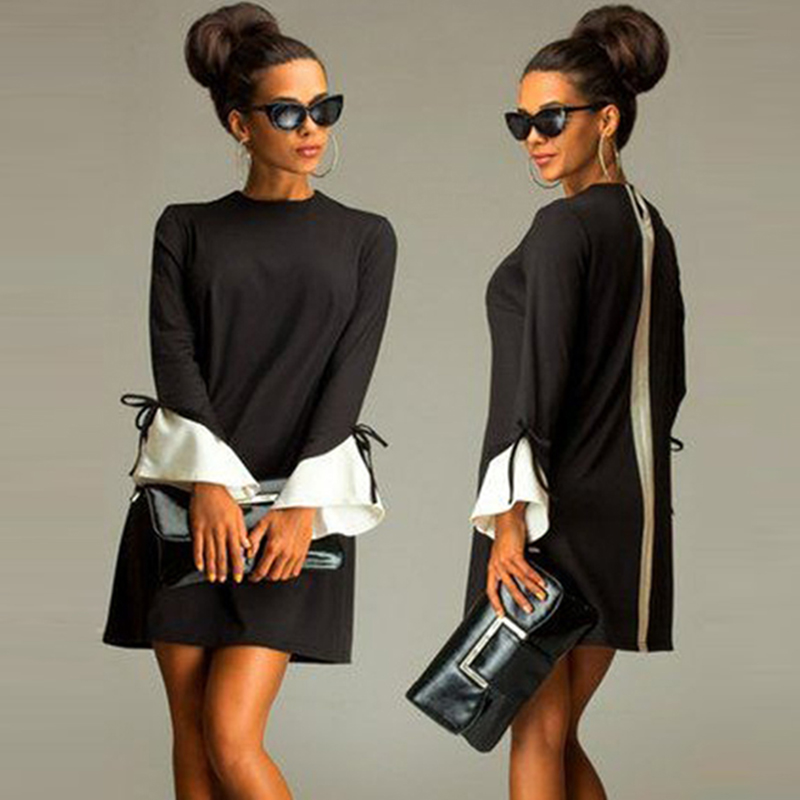 Long Sleeve Shift Party Dresses