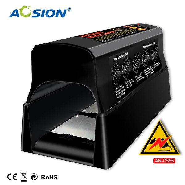 Livraison gratuite accueil Aosion Batteries et adaptateur actionné antiparasitaire souris électrique souris tueur rat piège
