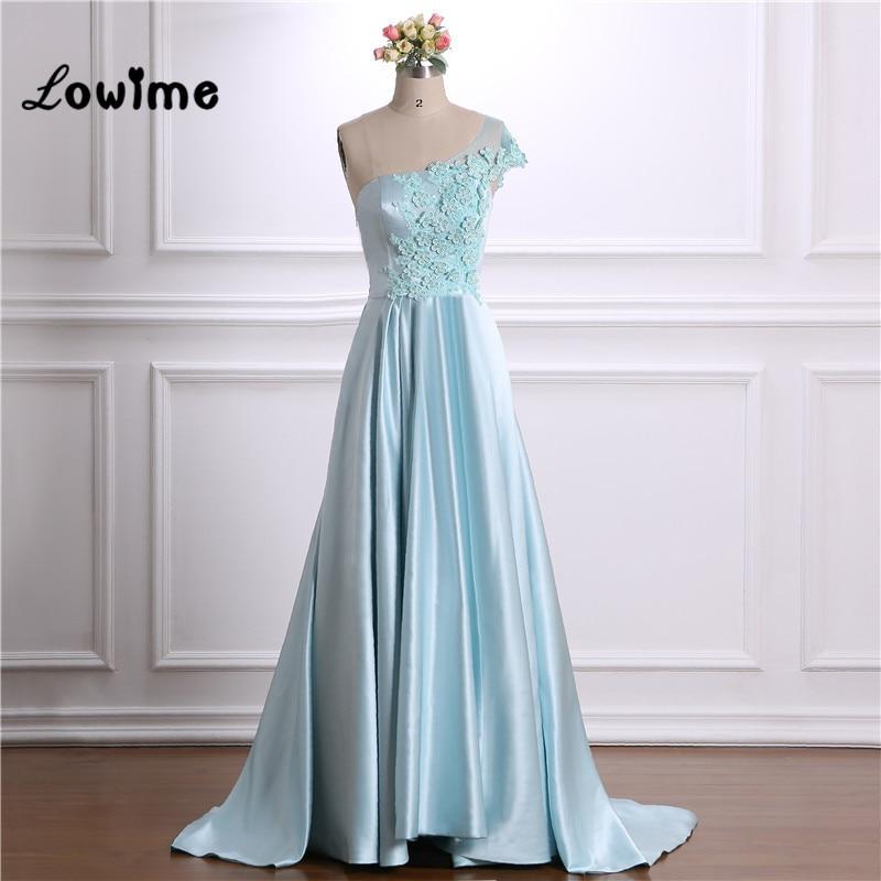 One Shoulder   Prom     Dresses   Vestido Longo Custom Made With Applique Long Party Gown Vestido Formatura 2018 Evening   Dress