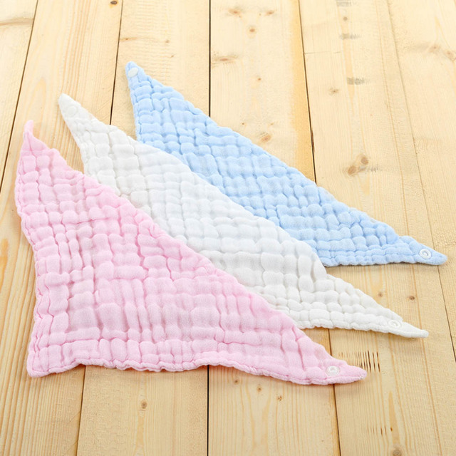 6 layers Baby Bibs Newborn Face Towel Cotton Kids Wash cloth Handkerchiefs Baby bib