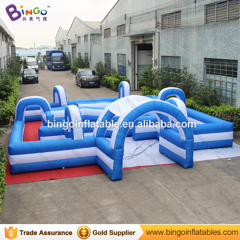 8*8M inflatable maze interative games,blue and white blow up labyrinth for children-toys commercial sea inflatable blue water slide with pool and arch for kids