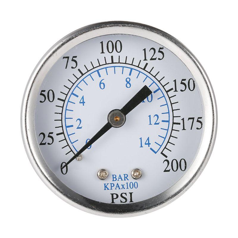 """Compresor De Aire Presión//Hidráulico calibre 1.5 cara de montaje lateral 1//8/"""" NPT 0-200 Psi"""
