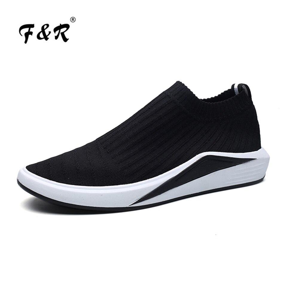F&R 2018 New Spring Summer Mesh Breathable Balanciaga Sock Sneakers Men Slip on Running Shoes Jogging Sports Footwear 39-44