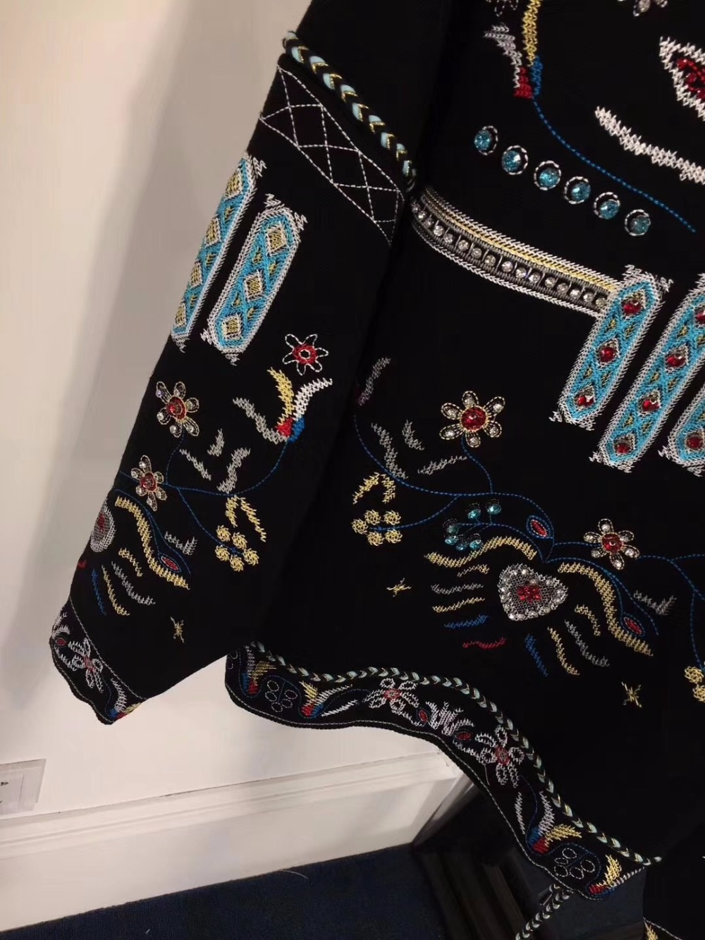 Tops Top T Femelle Pour Mode Vadim shirts Broderie Vêtements Femmes À 2018 Lâche De Fine Chemise Longues Graphique T Manches Tunique FJ3lKcT1