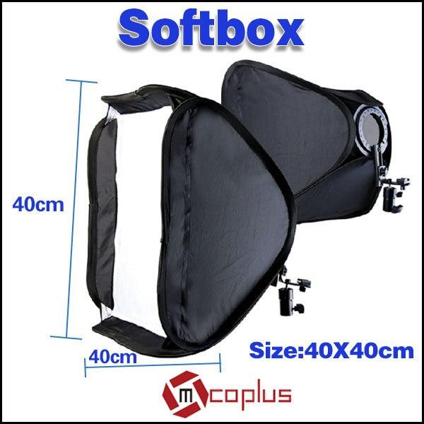 Mcoplus Softbox con soporte para flash de estudio fotográfico de 19 - Cámara y foto