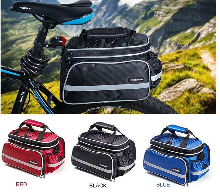 Convertible Bicycle Luggage Bag Road Mountain Bike Rear <font><b>Seat</b></font> Cycling Bag Bike Double Side Tail <font><b>Seat</b></font> Trunk Bag Pannier <font><b>Rain</b></font> Cover