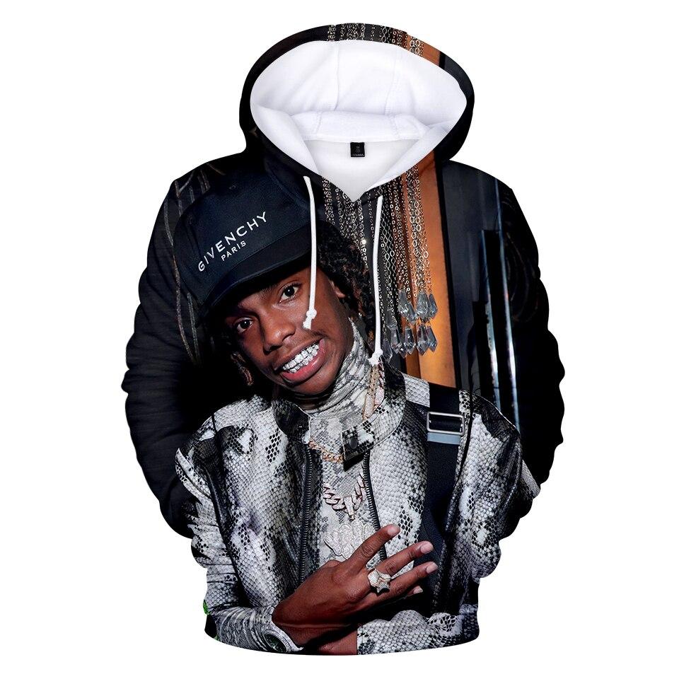 2019 Rapper YNW Melly 3D Hoodie Men Fashion Sweatshirt YNW Melly Hip Hop Long-sleeved Hoodies Streetwear  Size Xxs-4xl Pullover