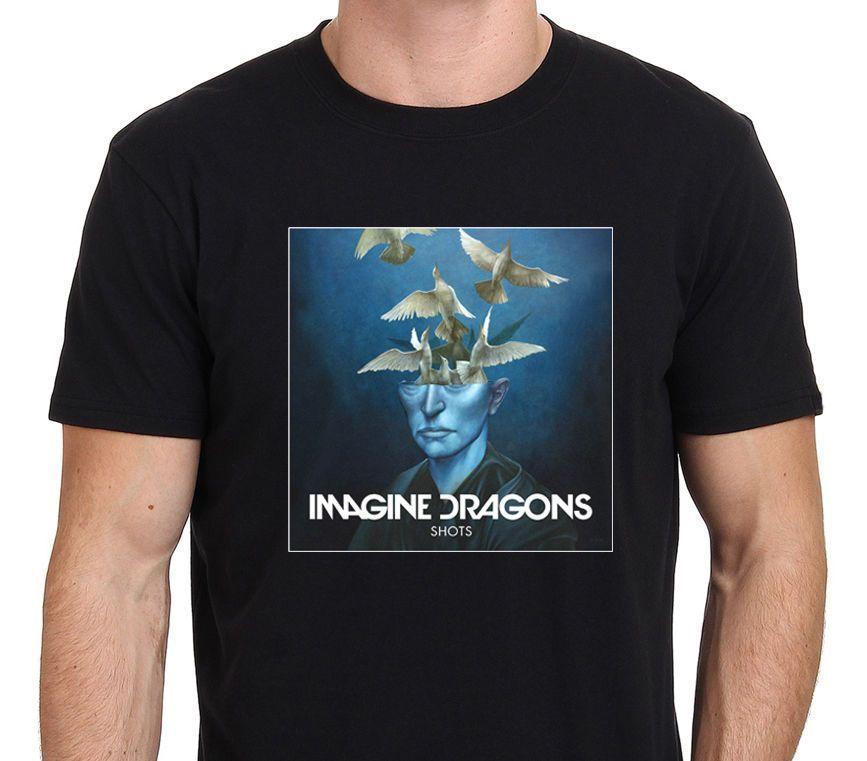 Представьте Драконы снимков EP Обложка альбома Для мужчин хлопковая Футболка с принтом топы, футболки