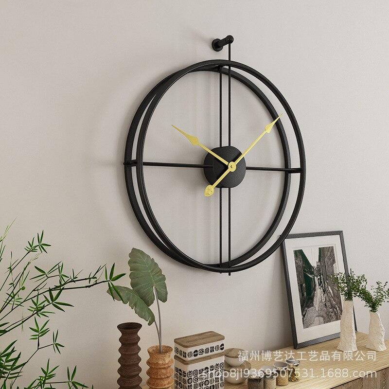 Скандинавские креативные короткие большие настенные часы кухонные часы фермерский дом Декор металлические настенные украшения гостиная ч...